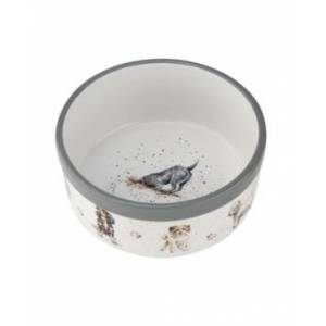 Royal Worcester Wrendale Pet Bowl Assorted Dogs  - White