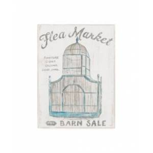"Trademark Global Sue Schlabach White Barn Flea Market Iii Canvas Art - 19.5"" x 26""  - Multi"