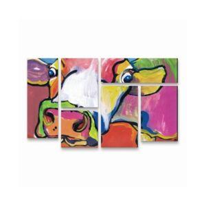 "Trademark Global Pat Saunders-White Cold Hands Multi Panel Art Set 6 Piece - 49"" x 19""  - Multi"