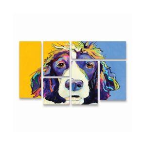 "Trademark Global Pat Saunders-White Sadie Multi Panel Art Set 6 Piece - 49"" x 19""  - Multi"