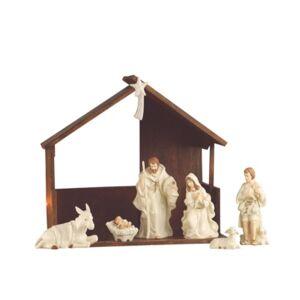 Belleek Pottery Classic Nativity Set  - Open White