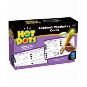 Learning Resources Educational Insights Hot Dots Academic Vocabulary Card Sets- Grades 4-6