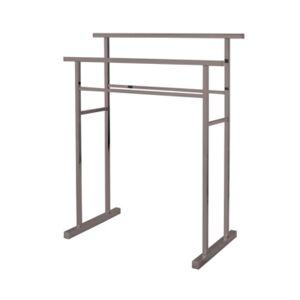 Kingston Brass Pedestal Steel Construction Towel Rack Bedding  - Brushed Nickel