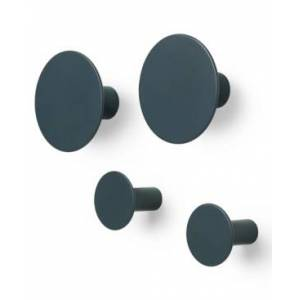 blomus Ponto Wall Hooks Set of 4 Bedding  - Dark Grey