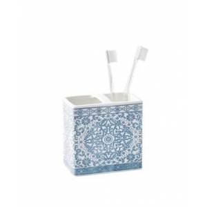 Peri Home Peri Capri Medallion Toothbrush Holder Bedding  - Aqua