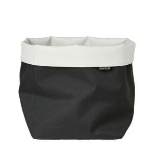 blomus Storage Basket Reversible Canvas Xl Bedding  - Charcoal