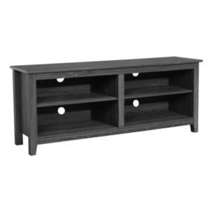 """Walker Edison 58"""" Wood Tv Media Stand Storage Console  - Charcoal"""