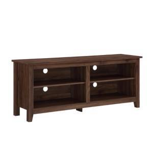 "Walker Edison 58"" Wood Tv Media Stand Storage Console  - Brown1"