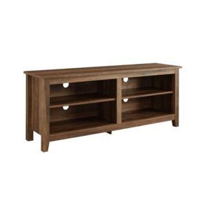 "Walker Edison 58"" Wood Tv Media Stand Storage Console  - Rustic Oak"