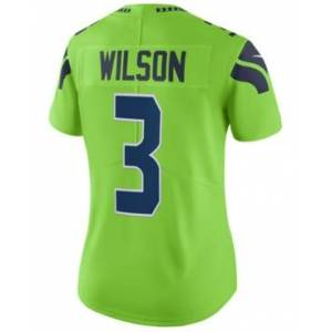 Nike Women's Russell Wilson Seattle Seahawks Color Rush Limited Jersey  - Lime