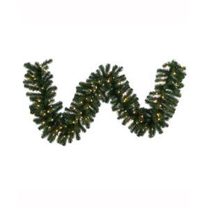 Vickerman 50' Douglas Fir Artificial Christmas Garland with 400 Warm White Led Lights  - Green