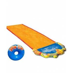 Banzai Spin Out Water Slide - Includes Inflatable Spin Disk Body Board