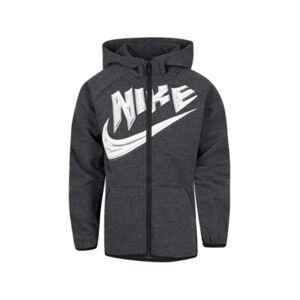 Nike Little Boys Fleece Full Zip Hoodie  - Black Heather