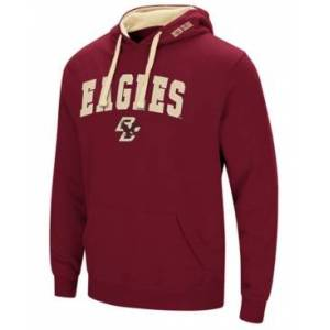 Colosseum Men's Boston College Eagles Arch Logo Hoodie  - Maroon