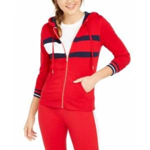 Tommy Hilfiger Sport Colorblocked Zippered Hoodie  - Rich Red