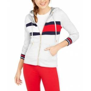 Tommy Hilfiger Sport Colorblocked Zippered Hoodie  - White