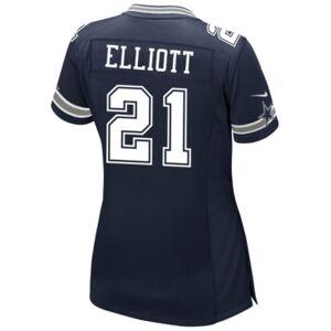 Nike Women's Ezekiel Elliott Dallas Cowboys Game Jersey  - Navy