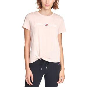 Tommy Hilfiger Sport Side-Knot Logo Print T-Shirt  - Blush