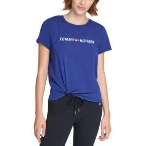 Tommy Hilfiger Sport Side-Knot Logo Print T-Shirt  - Deep Blue