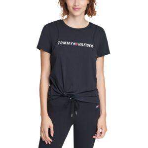 Tommy Hilfiger Sport Side-Knot Logo Print T-Shirt  - Black