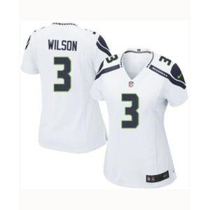 Nike Women's Russell Wilson Seattle Seahawks Game Jersey  - White