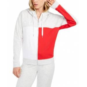 Tommy Hilfiger Sport Colorblocked Zippered Hoodie  - White Stone Heather