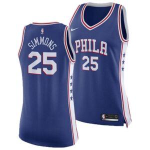 Nike Women's Ben Simmons Philadelphia 76ers Swingman Jersey  - RoyalBlue