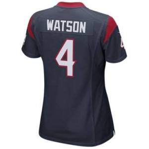 Nike Women's DeShaun Watson Houston Texans Game Jersey  - Navy/Red