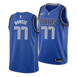 Nike Men's Luka Doncic Dallas Mavericks Icon Swingman Jersey  - Blue