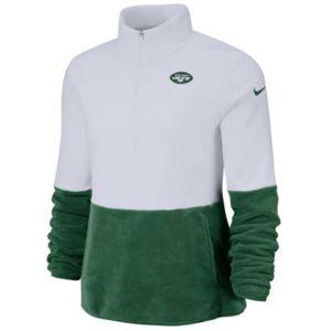 Nike Women's New York Jets Half-Zip Therma Fleece Pullover  - White/Green