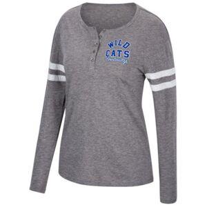 Top of the World Women's Kentucky Wildcats Henley Long Sleeve T-Shirt  - Gray