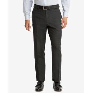 Tommy Hilfiger Men's Modern-Fit Th Flex Performance Plaid Suit Pants  - Dark Gray Plaid