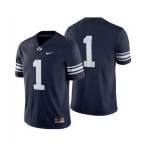 Nike Men's Brigham Young Cougars Football Replica Game Jersey  - Navy