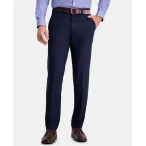 Haggar Men's The Active Series Straight-Fit Performance Stretch Solid Dress Pants  - Indigo