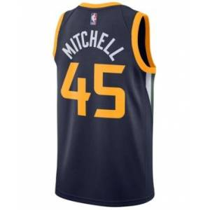 Nike Men's Donovan Mitchell Utah Jazz Icon Swingman Jersey  - Navy