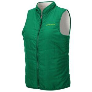 Colosseum Women's Oregon Ducks Blatch Reversible Vest  - Green/Cream