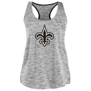 Authentic Nfl Apparel Women's New Orleans Saints Space Dye Tank  - Black