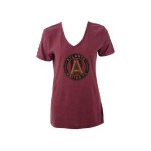 Majestic Atlanta United Fc Women's Distressed Logo T-Shirt  - Red