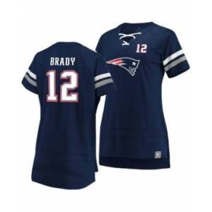 Majestic Women's Tom Brady New England Patriots Draft Him T-Shirt 2019  - Navy/Gray/White