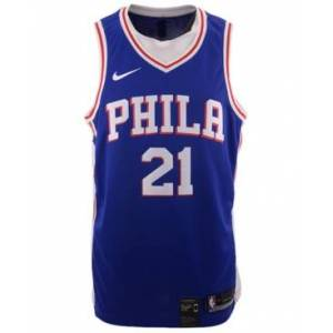 Nike Men's Joel Embiid Philadelphia 76ers Icon Swingman Jersey  - Blue