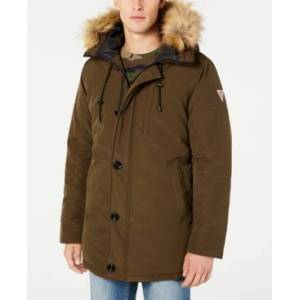 Guess Men's Heavy Weight Parka Jacket  - Olive