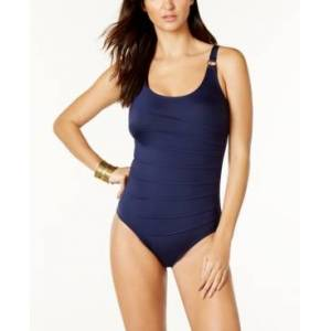 Calvin Klein Starburst One-Piece Swimsuit, Created for Macy's Women's Swimsuit  - Navy