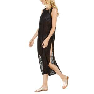 Calvin Klein Burnout Maxi Dress Swim Cover-Up, Created for Macy's Women's Swimsuit  - Black