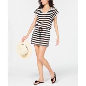 Calvin Klein Crochet Cover-Up, Created for Macy's Women's Swimsuit  - Black/White