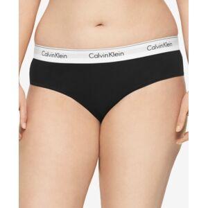 Calvin Klein Plus Size Modern Cotton Logo Hipster Underwear QF5118  - Black