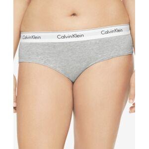 Calvin Klein Plus Size Modern Cotton Logo Hipster Underwear QF5118  - Gray