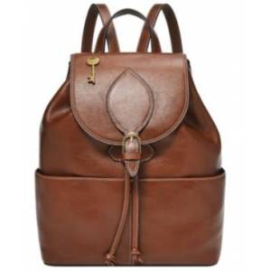 Fossil Women's Luna Leather Backpack  - Brown
