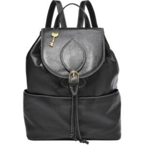 Fossil Women's Luna Leather Backpack  - Black
