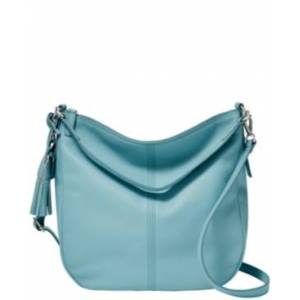 Fossil Jolie Leather Hobo  - Turquoise