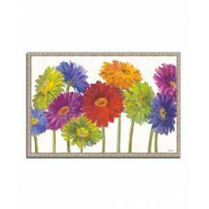 "Tangletown Fine Art Colorful Gerbera Daisies by Carol Rowan Fine Art Giclee Print on Gallery Wrap Canvas, 47"" x 32""  - Multi"